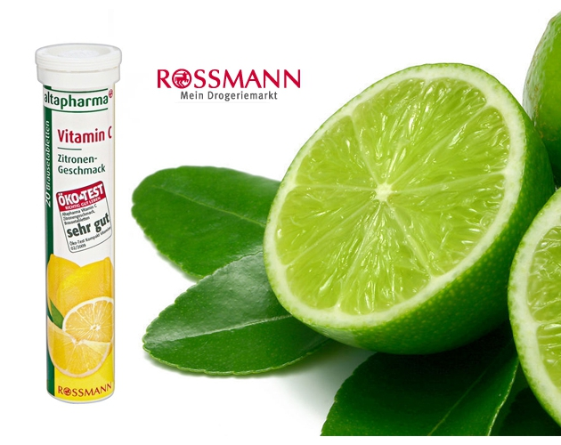 成都海淘德国altapharmaVC泡腾片 柠檬味  20片 无糖86G