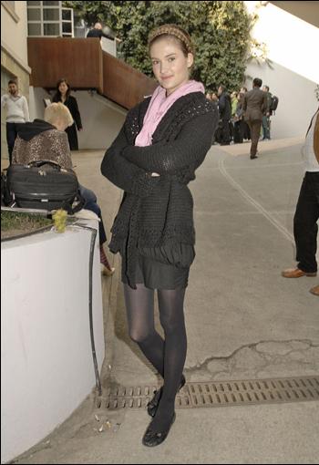 cavalli fw2007 backstage  她素 burberry prorsum的开场模特