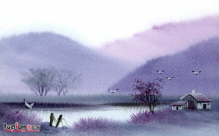 精美水彩画!